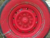 Old red wheel Royalty Free Stock Photo