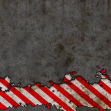 Old Red and White Hazard Stripes Sign Wall  Stock Photography
