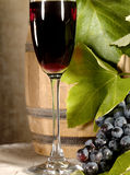 Old Red Wine With Grape Still-life Royalty Free Stock Image