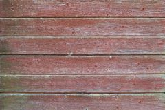 Old Red Wood Board Wall Royalty Free Stock Photography