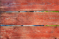 Old red wood fence Royalty Free Stock Images