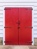 Old red wood gate Stock Photography