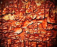 Old red wood paints Royalty Free Stock Photos