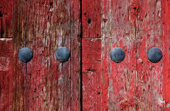 Old Red Wooden Background Stock Images
