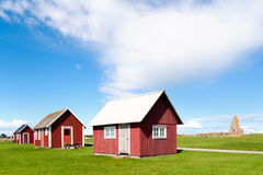 Old red wooden cottages, Sweden Stock Images