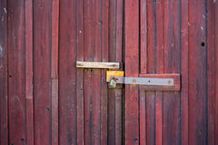 Old red wooden door Royalty Free Stock Photos