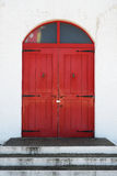 Old red wooden door Royalty Free Stock Image