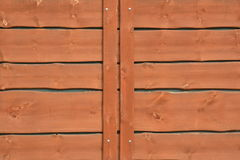 Old red wooden fence Royalty Free Stock Images