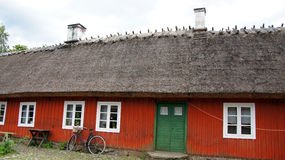 Old red wooden swedish house Royalty Free Stock Image