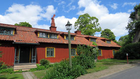 Old red wooden swedish house Royalty Free Stock Photo