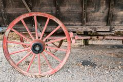 Old Wooden Wagon Wheel royalty free stock images