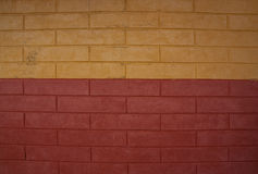 Old red and yellow brick wall. Stock Image
