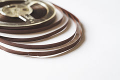 Old reel with magnetic tape for record player Stock Photo
