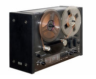 Old reel tape recorder Stock Photography