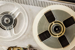 Old reel tape recorder Stock Images
