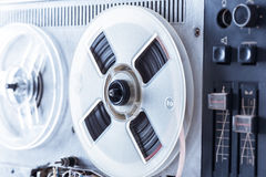 Old reel tape recorder in toning Stock Image