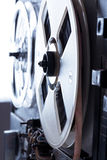 Old reel tape recorder in toning Royalty Free Stock Photo