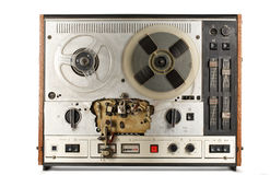 Old reel tape recorder Stock Photos