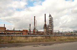 Old refinery Royalty Free Stock Photos