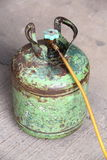 Old refrigerant tank. Use for air conditioner Royalty Free Stock Photos