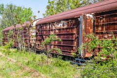 Old refrigerated railway wagon Stock Photos