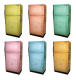 Old Refrigerator. Six color versions of an old refrigerator Royalty Free Stock Photos