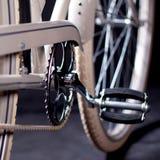 Old refurbished retro bike - Details Stock Image