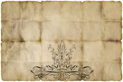 old regal paper parchment  Royalty Free Stock Photos