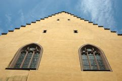Old Regensburg gothic architecture Royalty Free Stock Image