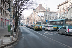 Old Regina Elisabeta boulevard Royalty Free Stock Photos