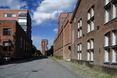 Old region factorys buildings converted to residential Royalty Free Stock Photo