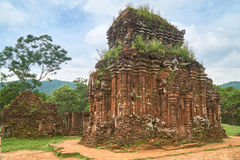 Old reiligous buildings from the Champa empire - cham culture. In my son, near Hoi an, Vietnam. World heritage site. Old reiligous buildings from the Champa royalty free stock photo
