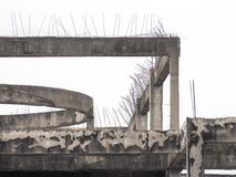 Old reinforced concrete building structure Stock Photography