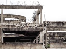 Old reinforced concrete building structure Royalty Free Stock Images