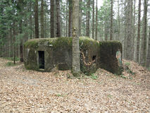 Old reinforced concrete bunker Royalty Free Stock Image