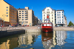 Old Relandersgrund lightship, now famous restaurant in Helsinki, Royalty Free Stock Photo