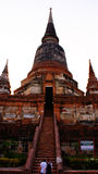 Old religion pagoda. The pagoda is in wst yai chai mongkol ayuttaya thailand.since 300 years ago royalty free stock photos