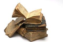 Old religious book. Isolatedon white Stock Photography