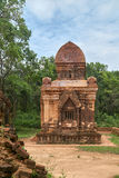Old religious buildings from the Champa empire - cham culture. In my son, near Hoi an, Vietnam. World heritage site. Old reiligous buildings from the Champa royalty free stock image