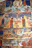 Old religious painting. Church of Saint Nicolas in Yaroslavl, Ru Stock Photo