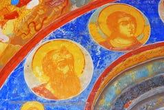 Old religious painting. Church of Saint Nicolas in Yaroslavl, Ru Royalty Free Stock Image