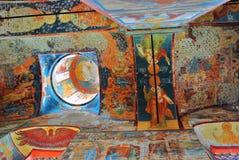 Old religious painting. Church of Saint Nicolas in Yaroslavl, Ru Royalty Free Stock Photo