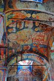 Old religious painting. Church of Saint Nicolas in Yaroslavl, Ru Royalty Free Stock Images