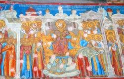 Old religious painting. Church of Saint Nicolas in Yaroslavl, Russia. Royalty Free Stock Photos