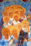 Old religious painting. Church of Saint Nicolas in Yaroslavl, Russia. Royalty Free Stock Image