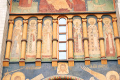 Old religious painting. Dormition church. Moscow Kremlin. Stock Images