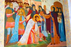 Old religious painting in Trinity Sergius Lavra Royalty Free Stock Photo