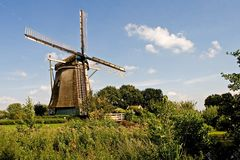 Old Rembrandts windmill Stock Photography