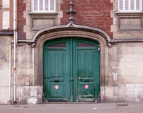 Old renaissance style door at the street Royalty Free Stock Photography