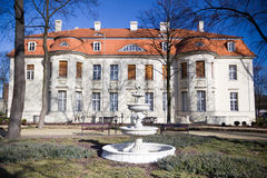 Old renewed palace in Lodz Stock Photos